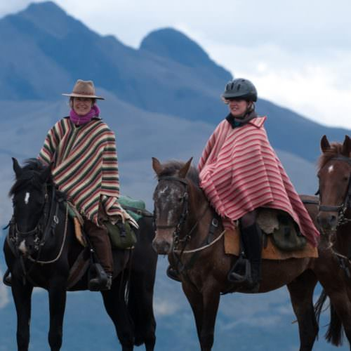 Riding in the Andes, Ecuador