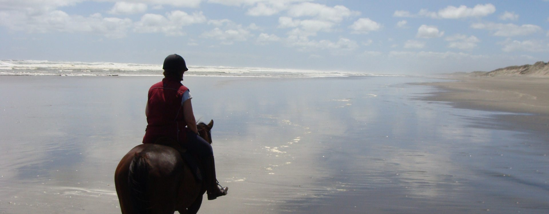 Beach riding in New Zealand