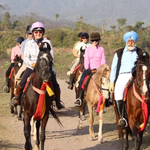 Riding to Hola Mohalla Festival in the Punjab