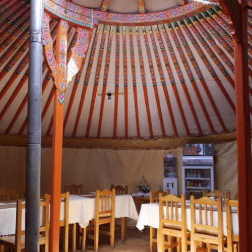 Mongolia ger restaurant