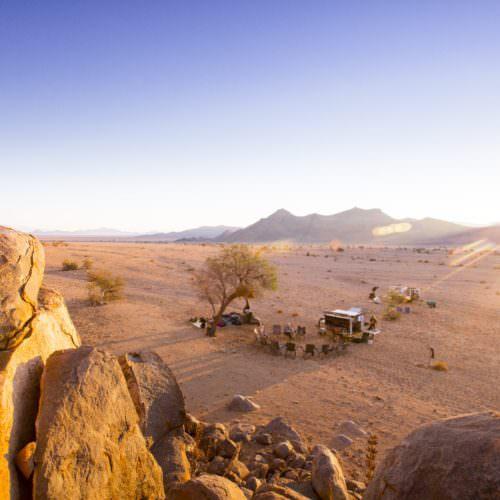 Trail ride Namibia