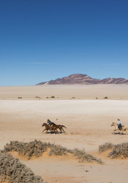 Horseback safari in Namibia