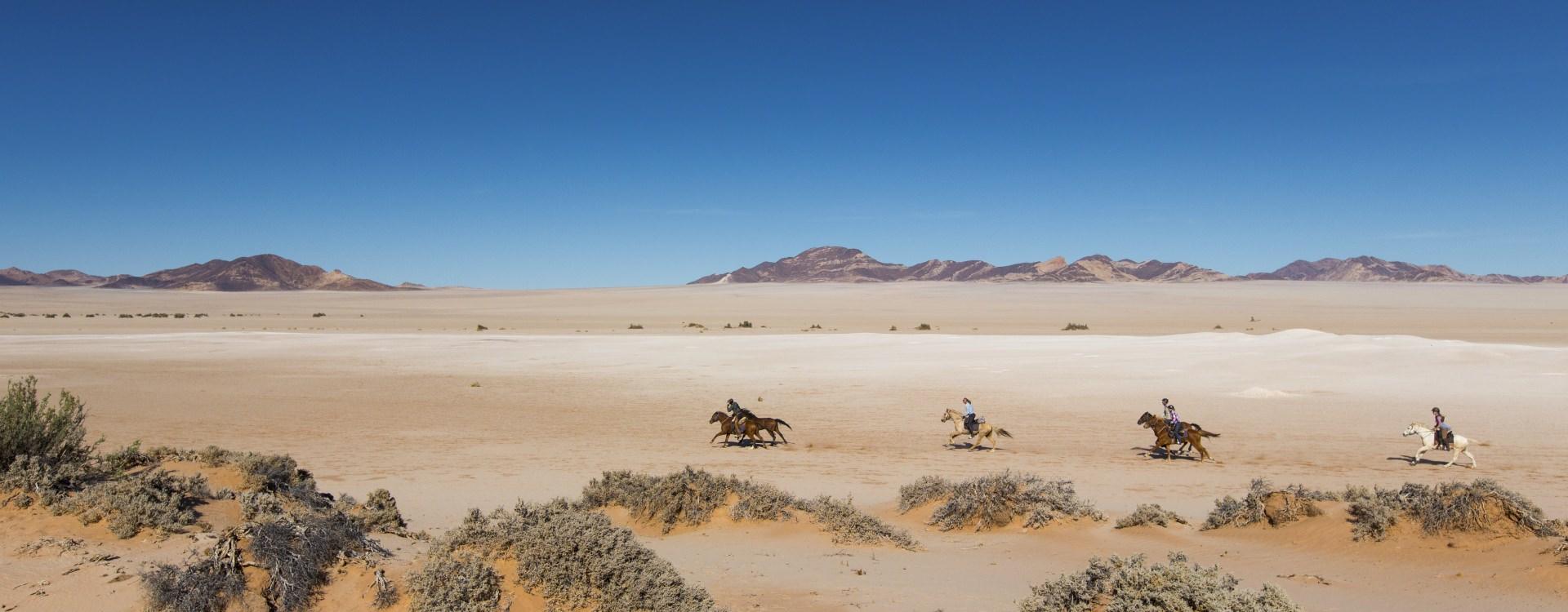 Horseback safari in Namibia