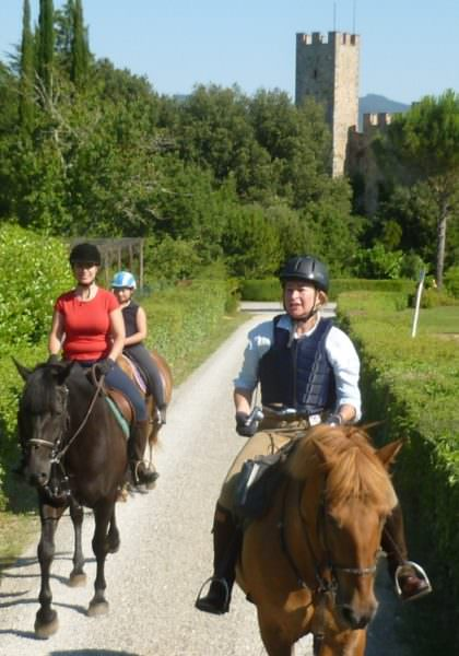 Riding in Tuscany