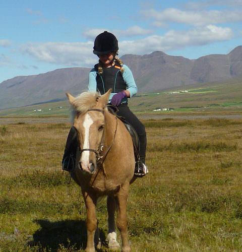 Iceland child riding