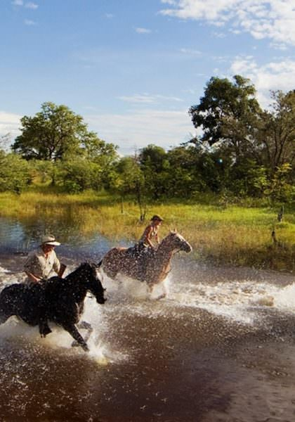 Horseback safari at Motswiri Camp, Botswana