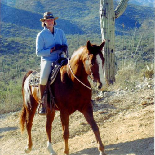 Trail riding in the desert from Tanque Verde Ranch. In The Saddle guest photo.