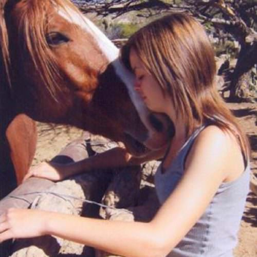 Girl and chestnut horse at Tanque Verde. In The Saddle guest photo