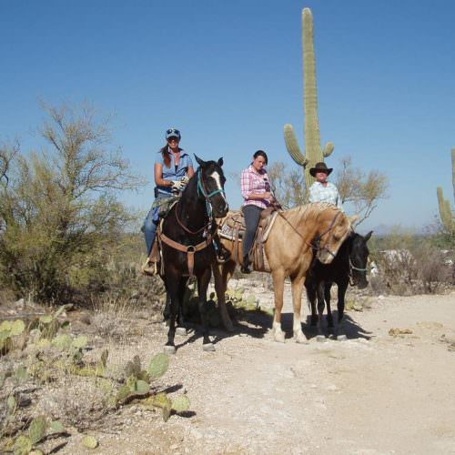 Riding from the ranch at Tanque Verde. In The Saddle holidays in Arizona.