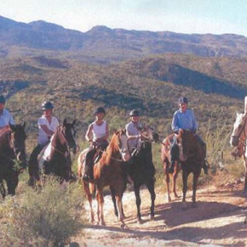 Group of western riders on their In The Saddle riding holiday vacation