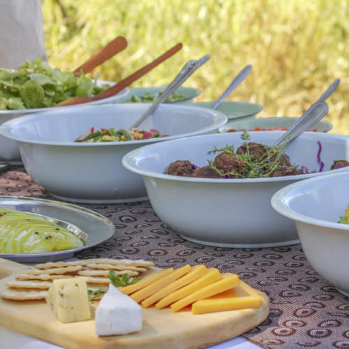 Mobile horseback safari in the Okavango Delta, Botswana. Lunch.