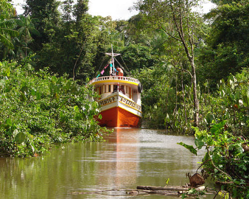 Riding Holidays in the Amazon Delta. Adventurous trips on horseback in Brazil. Boats on the Amazon