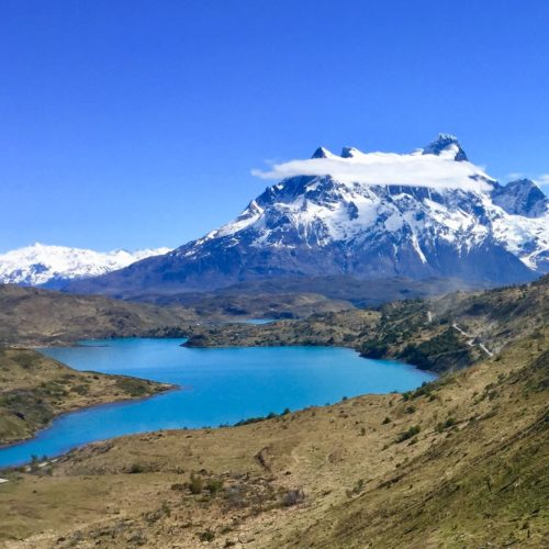 Azure lakes in Chile