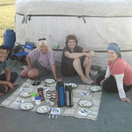 Mongolia picnic dinner