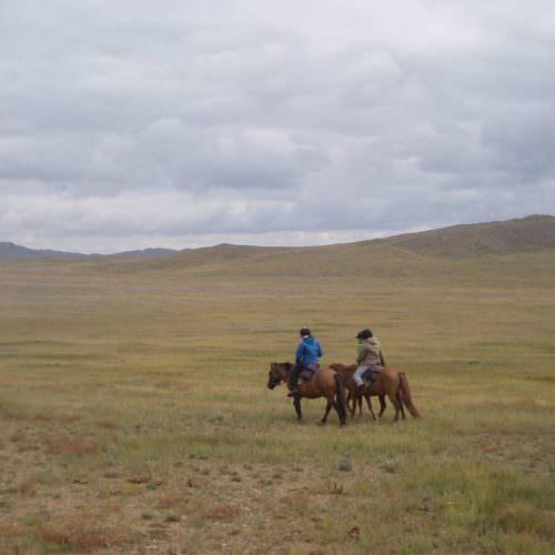 Mongolia chatting and riding