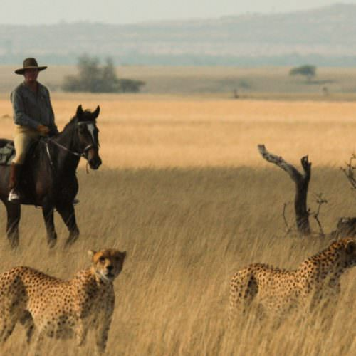 Riding safari at Ol Donyo Lodge, Kenya