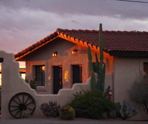White Stallion Ranch at sunset