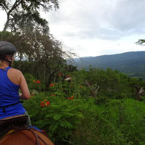 Riding towards El Palmar.