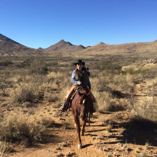 Riding through the Arizona desert