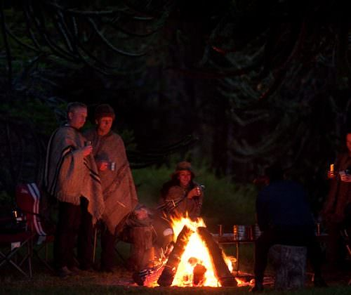 campfire in the andes