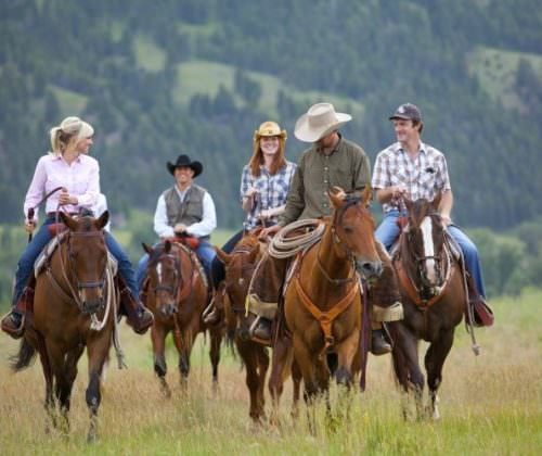 The riding is tailored to each guests ability.