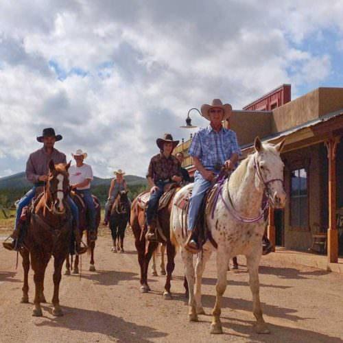 Riding through Main Street at Tombstone Monument Ranch - Arizona