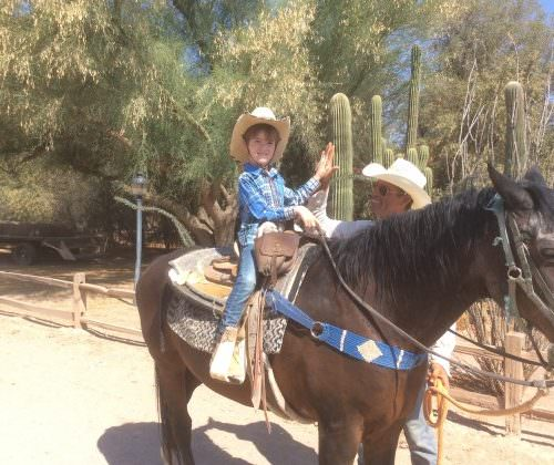 Guests - Christina & Jacob Schertiger on a western ranch holiday with In The Saddle