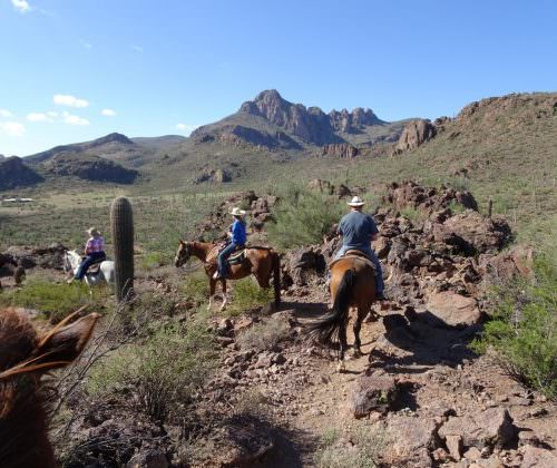 Guests - Jeremy and Sarita Harrison. Out on the trail in Arizona