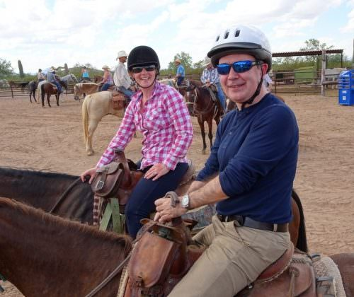 Jeremy and Sarita Harrison western riding with In The Saddle
