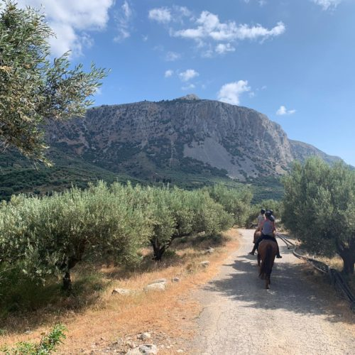 Horse riding in Crete, scenery