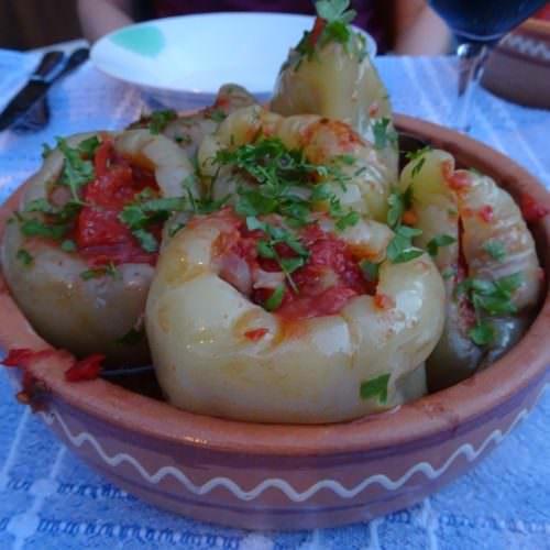 Traditional home prepared food in Croatia