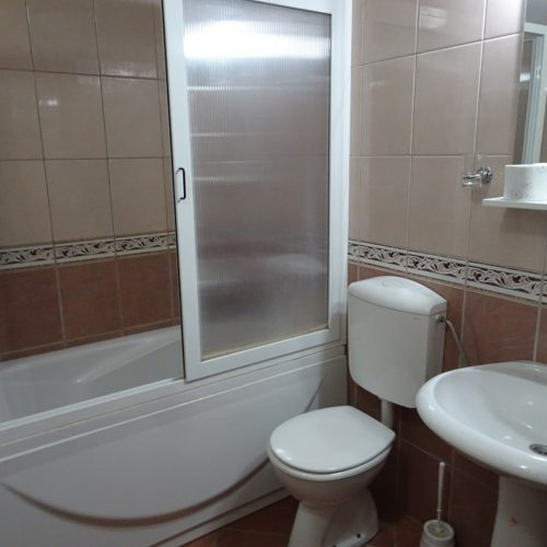 Typical bathroom at guesthouse