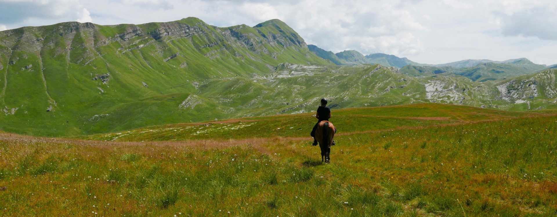 Riding in the mountains of Montenegro