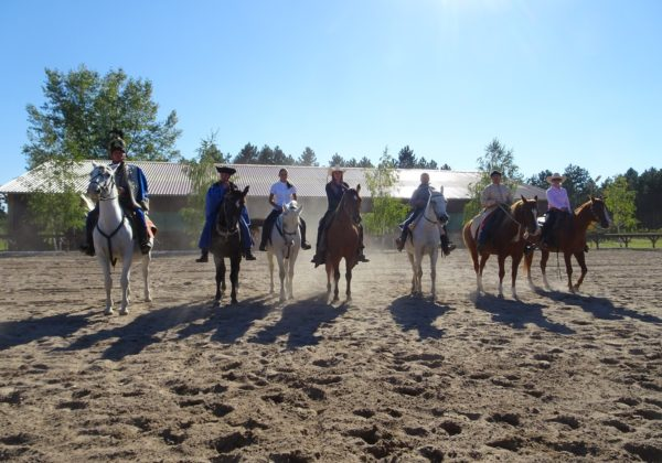 western riding, Hitting the trails at El Bronco, Hungary, In The Saddle