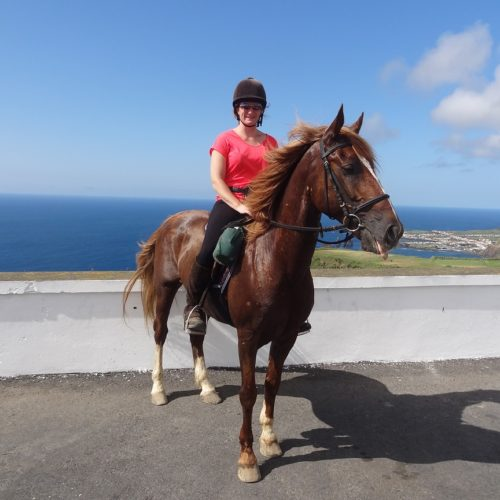 Azores, green island trail, riding and views