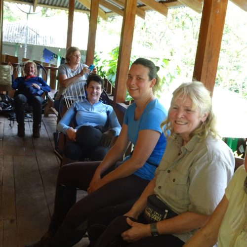 Wilderness ride in Costa Rica. Riding Holidays with In The Saddle. Riders relaxing.