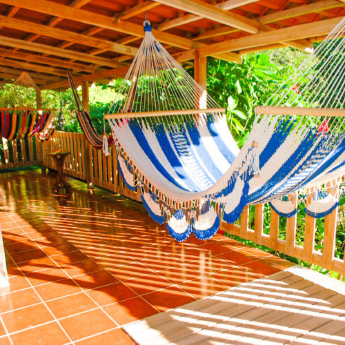 Wilderness ride in Costa Rica. Riding Holidays with In The Saddle. Colourful Hammock.
