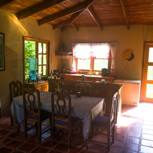 Wilderness ride in Costa Rica. Riding Holidays with In The Saddle. Dining room.