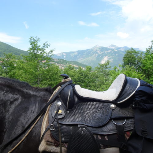 Western saddles, seat savers and saddle bags - riding holidays in north macedonia