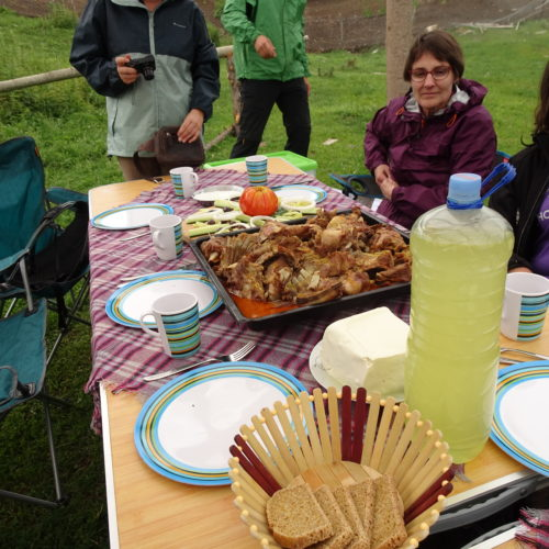 Picnic lunch - traditional food in macedonia
