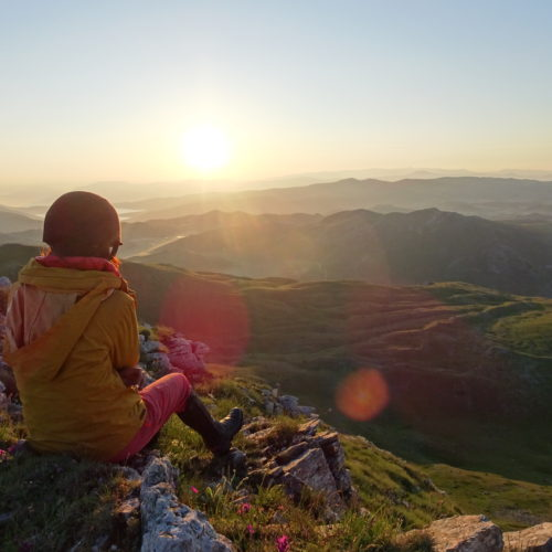 Watching the sunrise, riding holidays in Macedonia