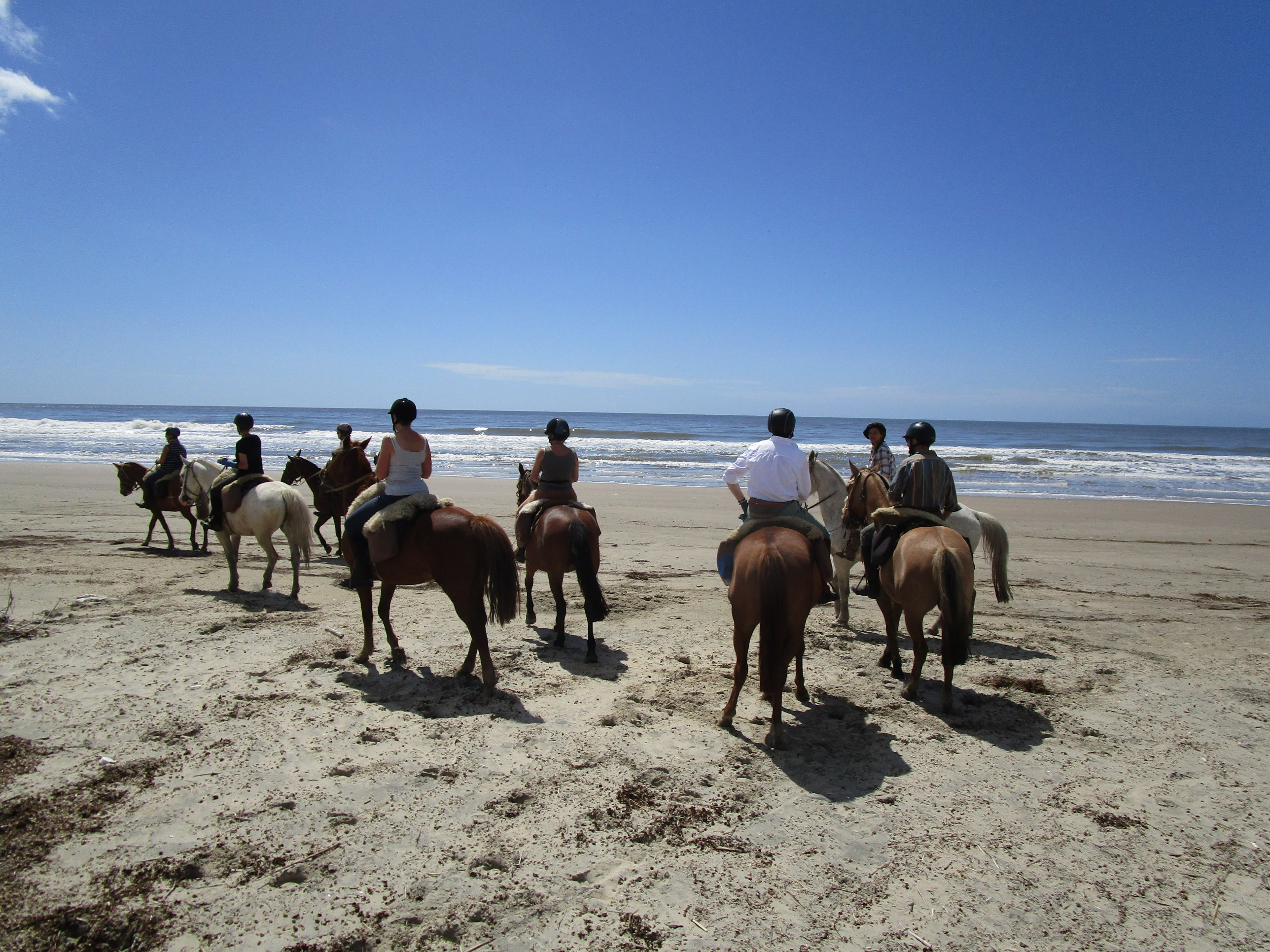 Riding on the beach in Uruguay