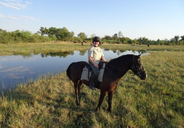 Motswiri Camp, Becky's Okavango Delta Adventure – Part 1 – Motswiri, In The Saddle