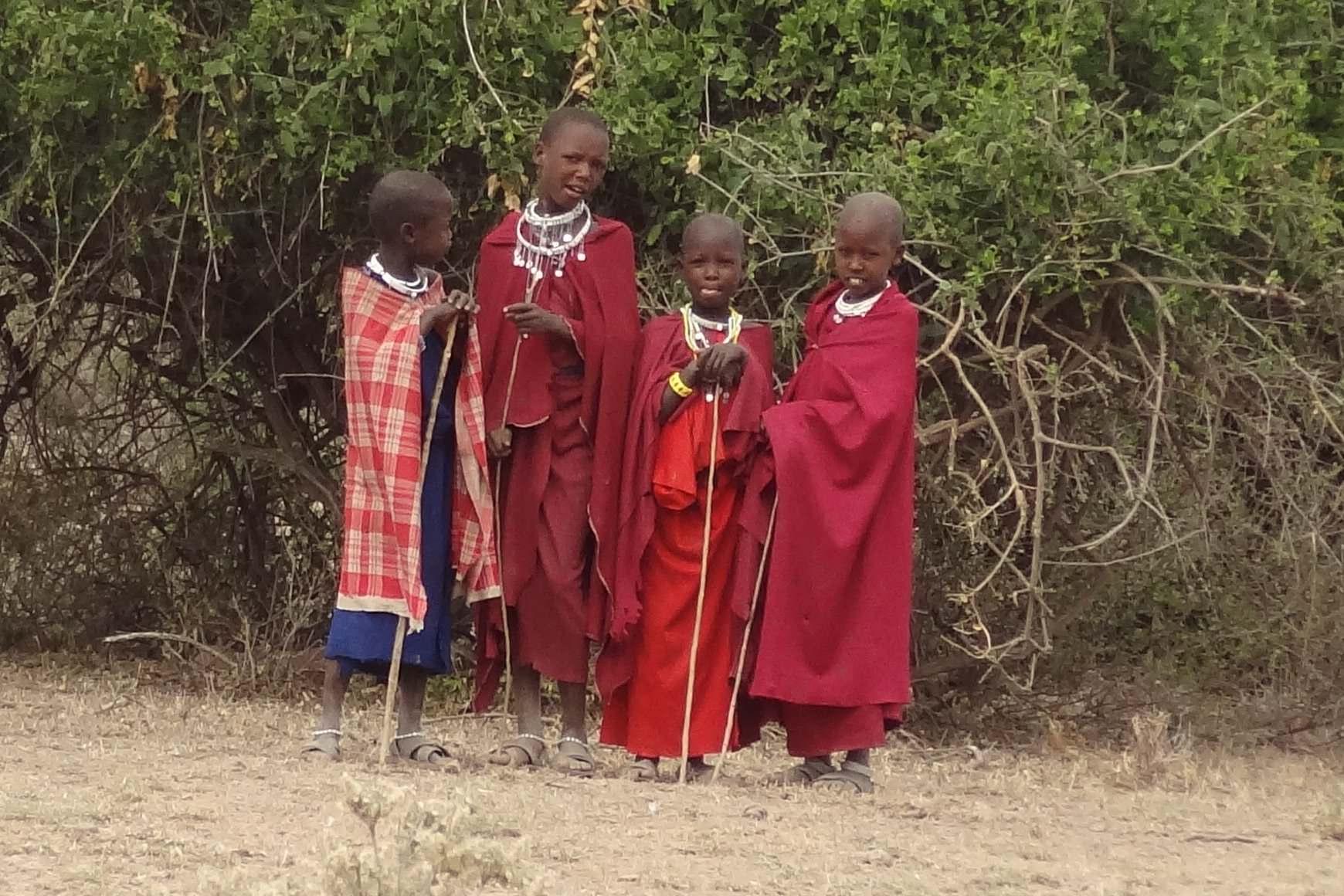 Young herders in Tanzania
