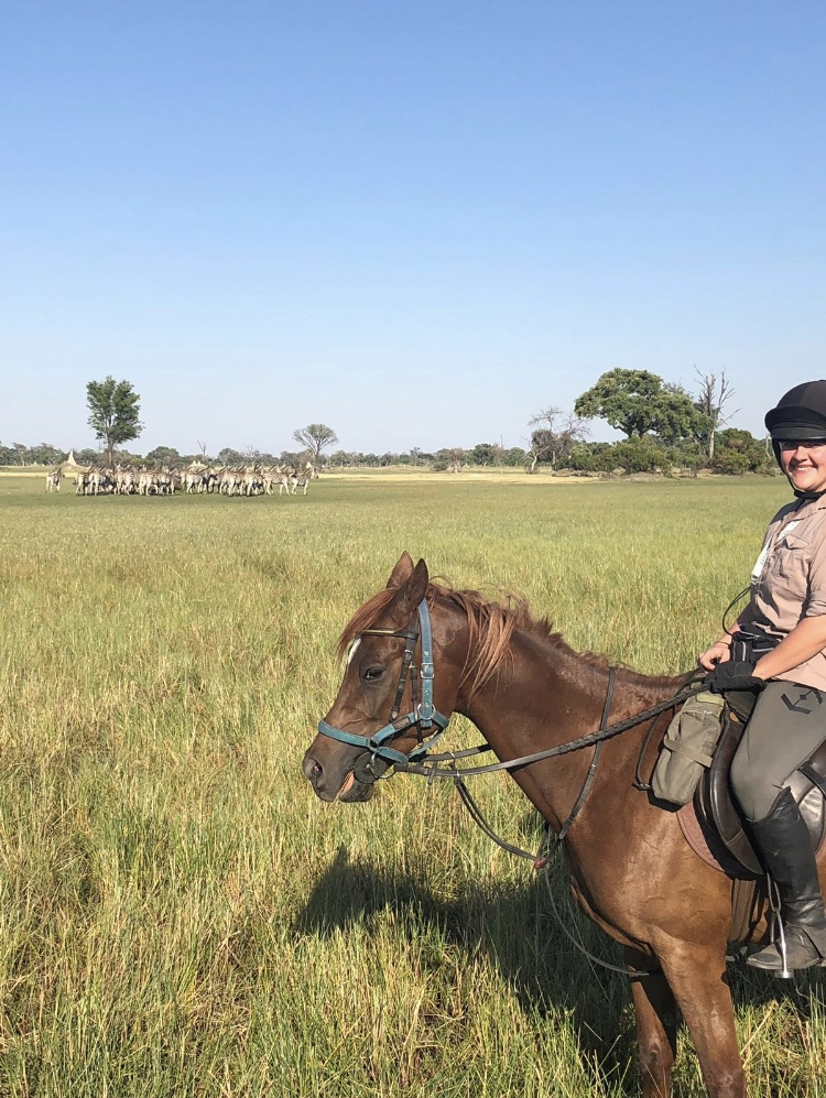 Kujwana Camp, Becky's Okavango Delta Adventure – Part 2 – Kujwana Camp, In The Saddle