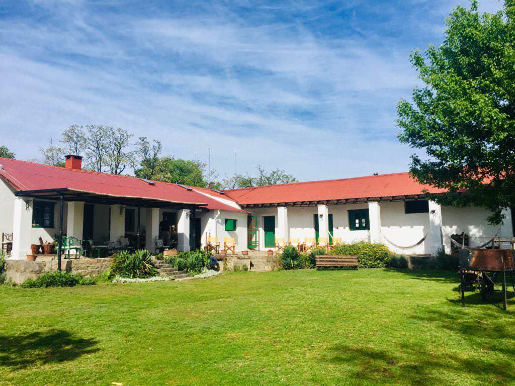 The main house at Los Potreros, Argentina
