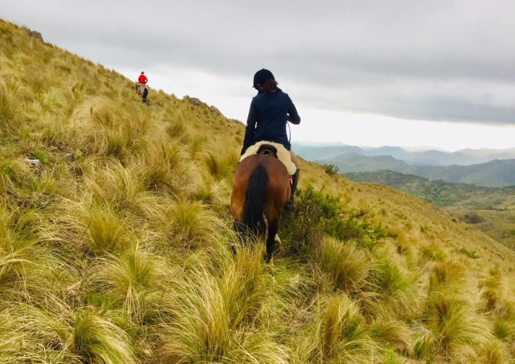 A full-day ride into the hills. Los Potreros, Argentina