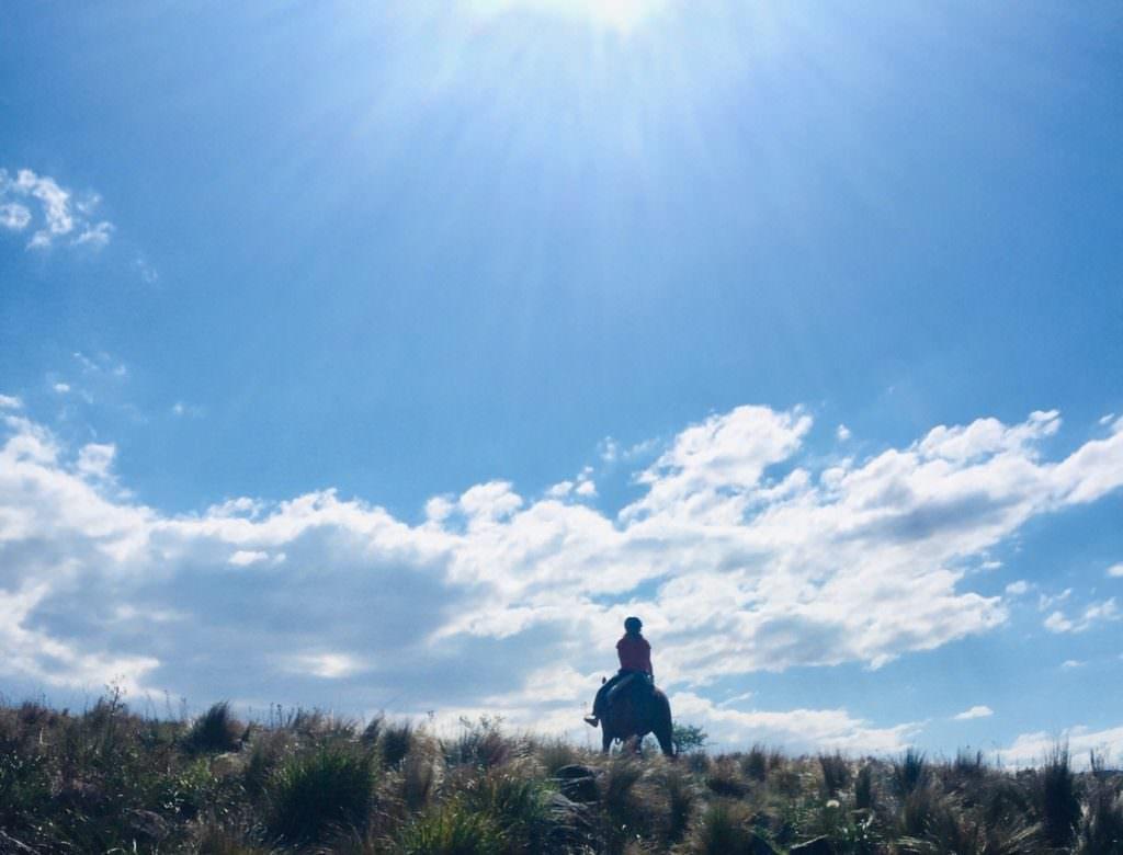 Heading off on horseback